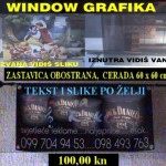 Zastavica, window grafika